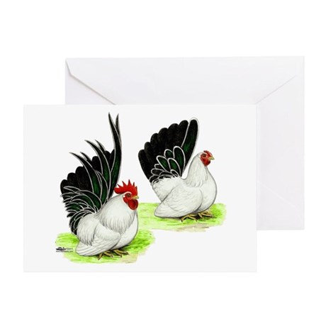 Japanese Bantams Greeting Card