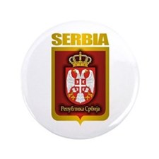 """Serbian Gold"" 3.5"" Button"