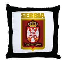 """Serbian Gold"" Throw Pillow"