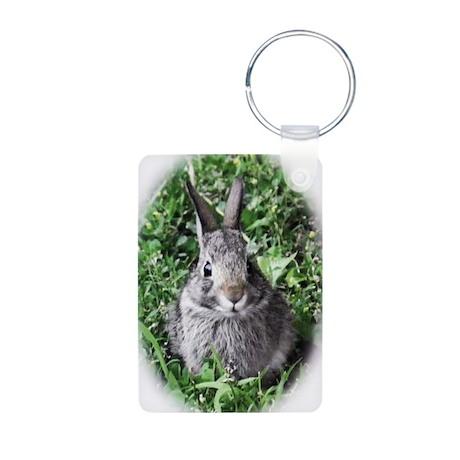 Baby Bunny Aluminum Photo Keychain