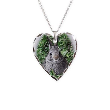 Baby Bunny Necklace Heart Charm