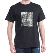 Crane's Rapunzel  Black T-Shirt