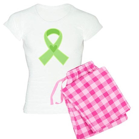 Green Ribbon Celiac Disease Women's Light Pajamas