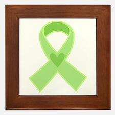 Green Ribbon Celiac Disease Framed Tile