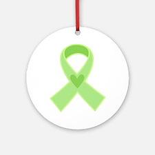 Green Ribbon Celiac Disease Ornament (Round)