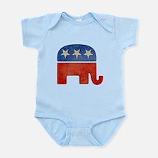 Republican Logo -Faded Infant Bodysuit