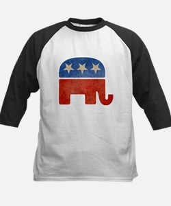 Republican Logo -Faded Kids Baseball Jersey