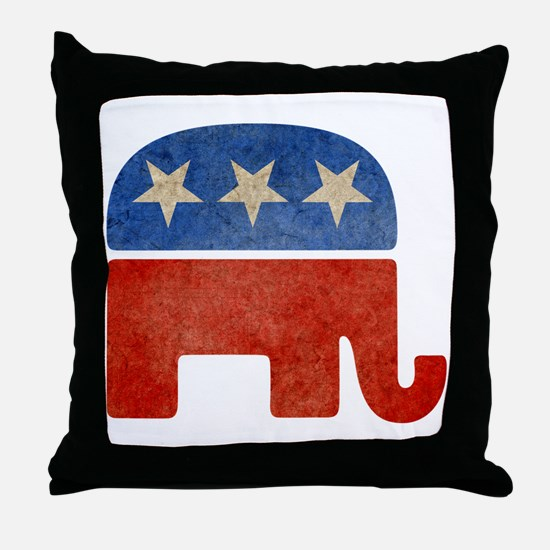 Republican Logo -Faded Throw Pillow