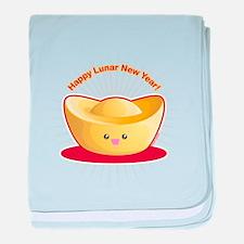 Gold Ingot baby blanket