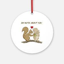 Valentine Squirrels Ornament (Round)