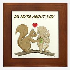 Valentine Squirrels Framed Tile
