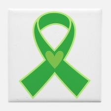 Green Ribbon Awareness Tile Coaster