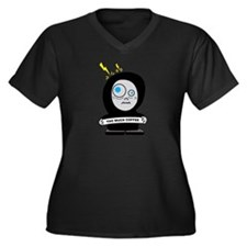 Funny Too much caffeine Women's Plus Size V-Neck Dark T-Shirt