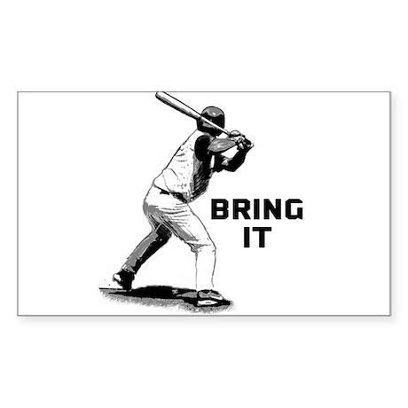 Baseball Batter Bring It Sticker (Rectangle)