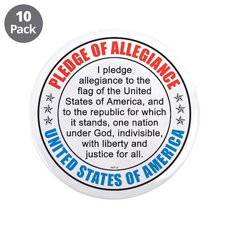 """Pledge of Allegiance 3.5"""" Button (10 pack)"""