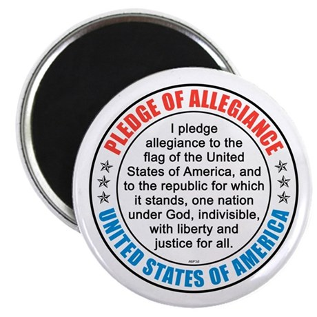 """Pledge of Allegiance 2.25"""" Magnet (100 pack)"""