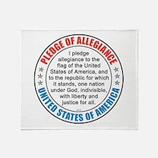 Pledge of Allegiance Throw Blanket