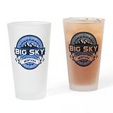 Big sky montana Pint Glasses