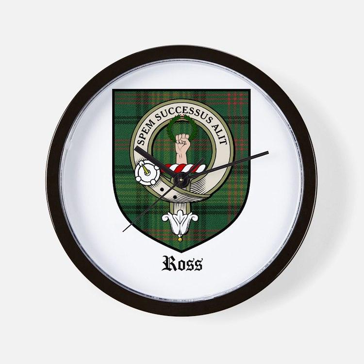 Ross Clan Crest Tartan Wall Clock