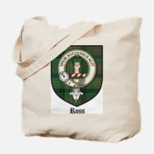 Ross Clan Crest Tartan Tote Bag