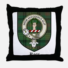 Ross Clan Crest Tartan Throw Pillow
