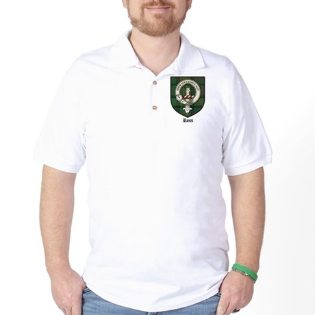 Ross Clan Crest Tartan Golf Shirt