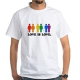 Gay Mens White T-shirts