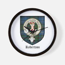 Robertson Clan Crest Tartan Wall Clock