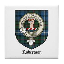 Robertson Clan Crest Tartan Tile Coaster