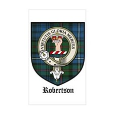 Robertson Clan Crest Tartan Rectangle Decal