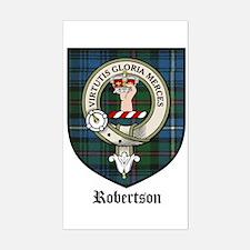 Robertson Clan Crest Tartan Rectangle Decal