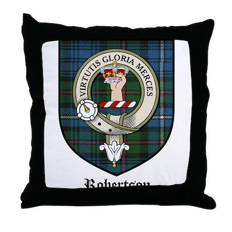 Robertson Clan Crest Tartan Throw Pillow