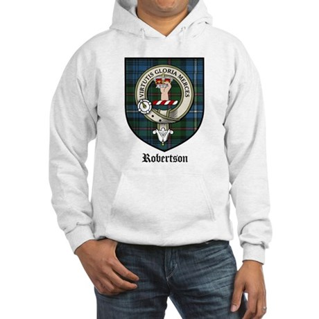 Robertson Clan Crest Tartan Hooded Sweatshirt