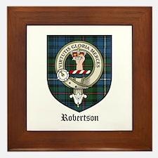 Robertson Clan Crest Tartan Framed Tile