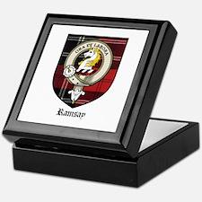 Ramsay Clan Crest Tartan Keepsake Box