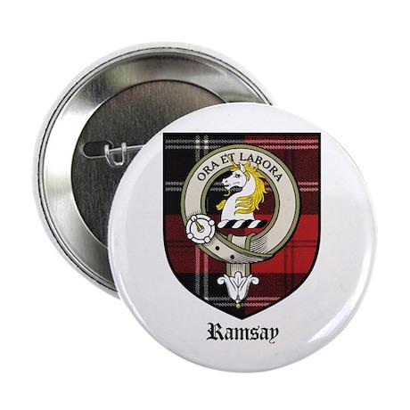 """Ramsay Clan Crest Tartan 2.25"""" Button (10 pack)"""