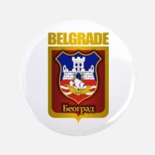 """Belgrade Gold"" 3.5"" Button"
