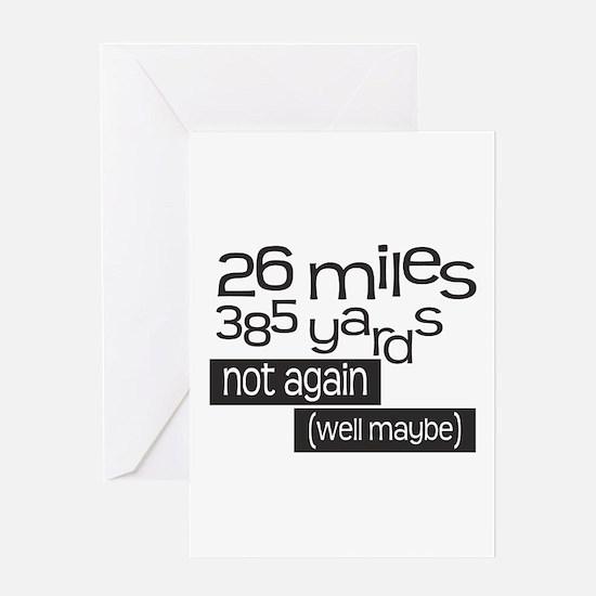 Funny 26.2 Marathon Greeting Card