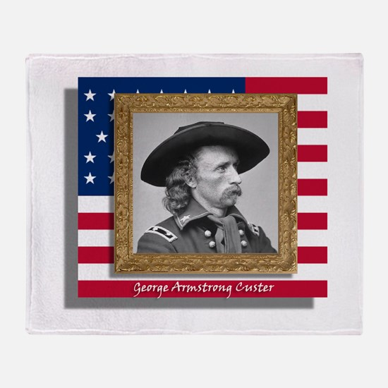 George Armstrong Custer Throw Blanket