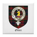 Oliver CLan Crest Tartan Tile Coaster