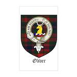Oliver CLan Crest Tartan Rectangle Sticker