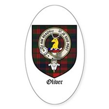 Oliver CLan Crest Tartan Oval Decal