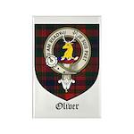 Oliver CLan Crest Tartan Rectangle Magnet (10 pack