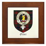 Oliver CLan Crest Tartan Framed Tile