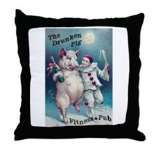 Drunken Pig 2.0 Throw Pillow