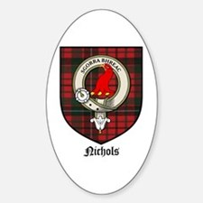 Nichols Clan Crest Tartan Oval Decal