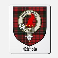 Nichols Clan Crest Tartan Mousepad