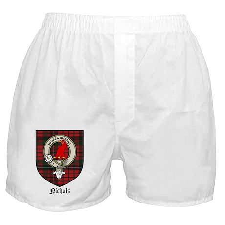 Nichols Clan Crest Tartan Boxer Shorts