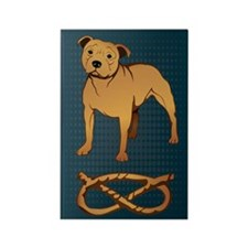 Fawn Staffordshire Rectangle Magnet