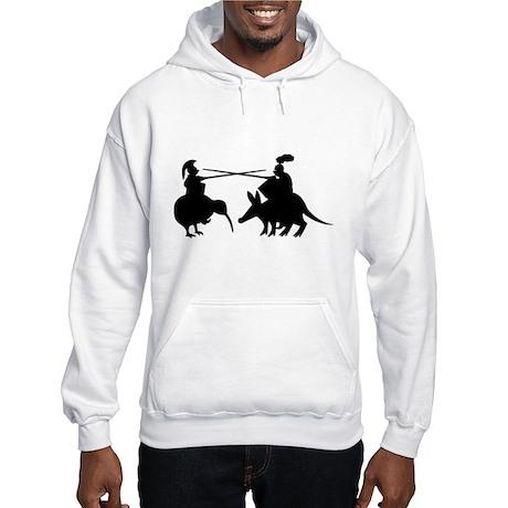 Jousting Kiwi Armadillo Knigh Hooded Sweatshirt